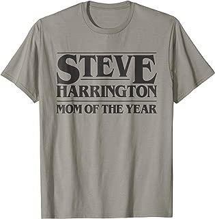 Steve Harrington Mom of The Year T-shirt Black Graphic Tee