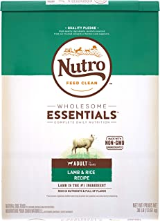 NUTRO Wholesome Essentials Natural Adult Dry Dog Food, Lamb & Rice Recipe