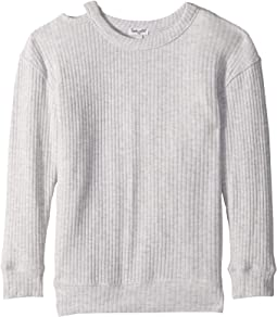 Melange Sylvie Rib Sweatshirt (Big Kids)