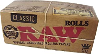 RAW Natural UNREFINED Classic Rolling paper 3m Rollpapers ロウクラシックペーパー 3mロール [並行輸入品]