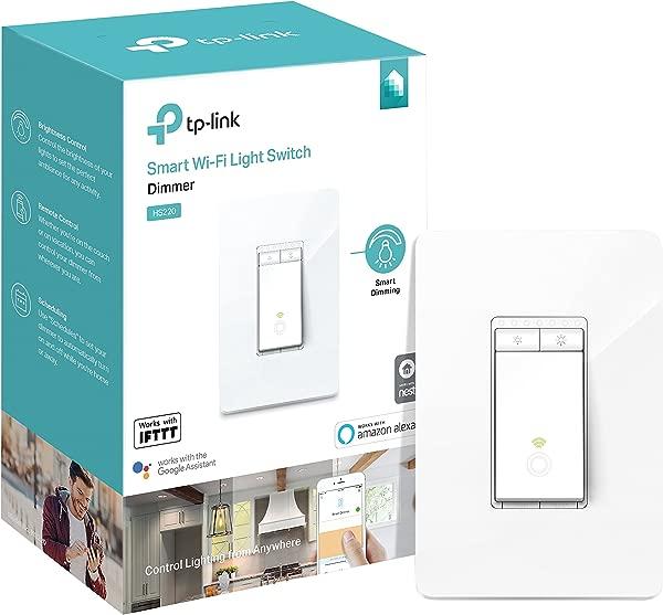 TP LINK HS220 Kasa Smart Dimmer WiFi Light Switch Neutral Wire Works W Alexa Google