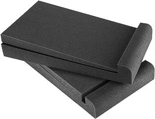 Neewer 2個 5インチスタジオモニター アコースティックパッド「黒」騒音を抑え 11.4 x 6.3 inches/29x16cm 5インチスピーカーボックスに対応
