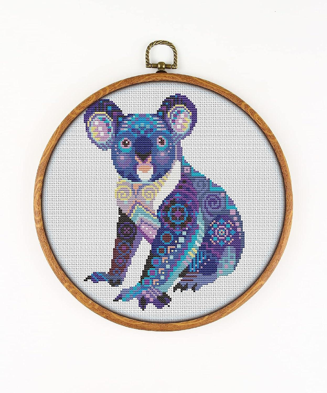 Mandala Koala K582 Counted Cross Stitch Cheap Courier shipping free shipping mail order shopping Threads Needles KIT#3.