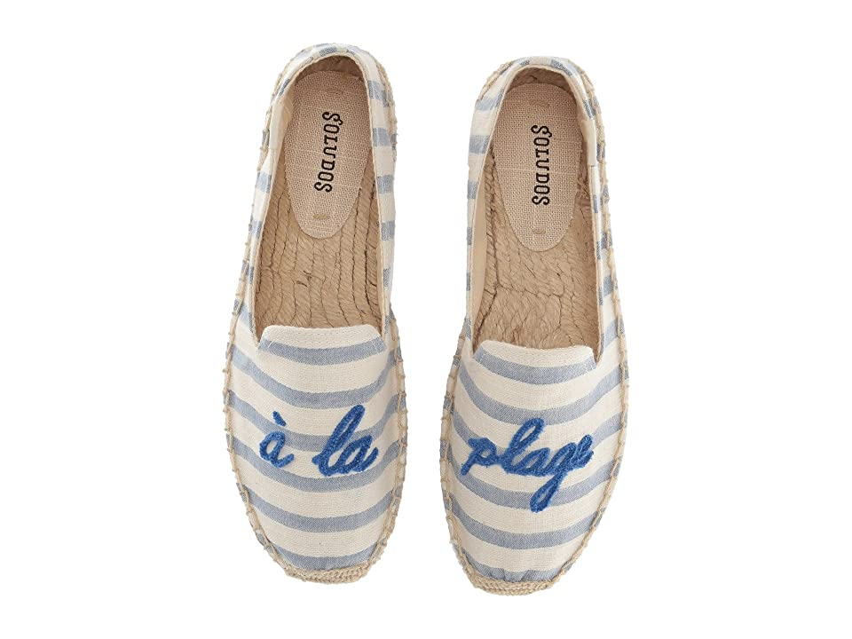 Soludos A La Plage Smoking Slipper (Natural/Blue) Women
