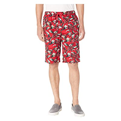 Tommy Bahama Island Washed Cotton Woven Jam Shorts (Big Leaves Red) Men