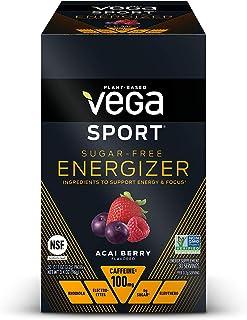 Vega Sport Sugar Free Energizer, Acai Berry - Vegan Certified, Keto-Friendly, Gluten Free, Dairy Free, Soy Free, Non GMO, ...