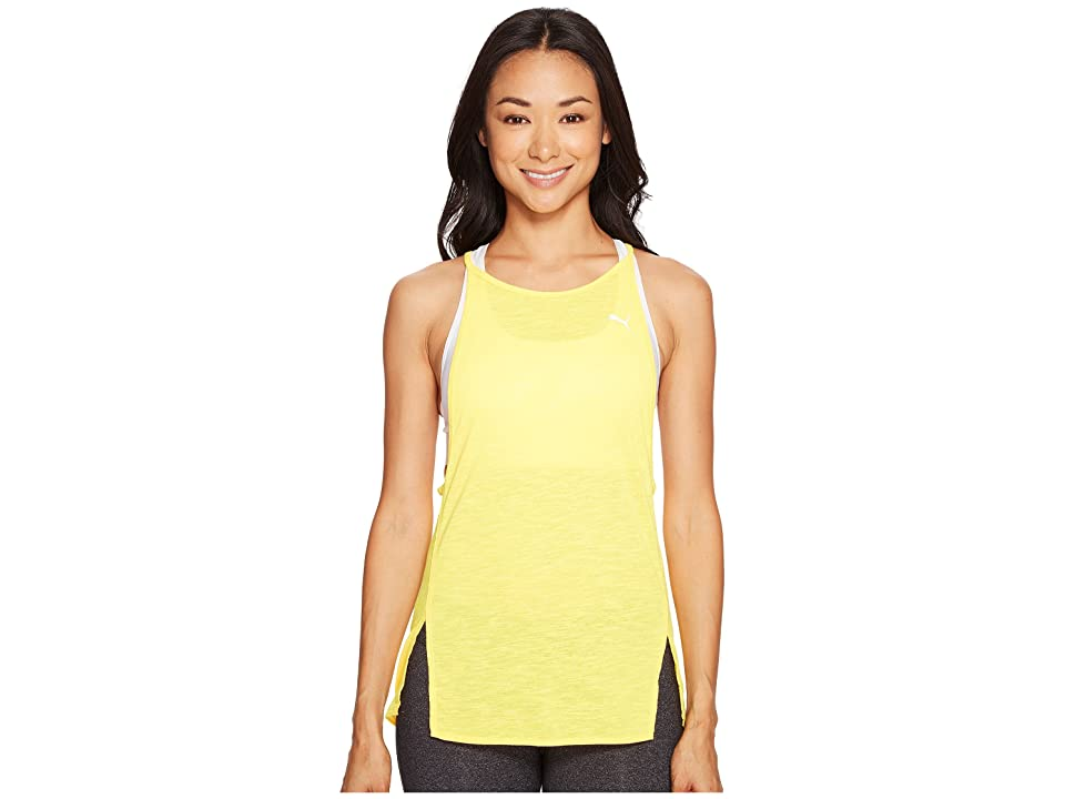 PUMA Dancer Drapey Tank (Ultra Yellow Heather) Women