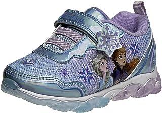 Girls' Frozen Sneakers - Laceless Light-Up Running Shoes (Toddler/Little Girl)