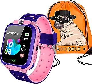 comprar comparacion Koopete.Smartwatch niños.Regalo de Mochila.Reloj Inteligente niños con localizador LBS,cámara Fotos,Llamadas,botón SOS,Pan...