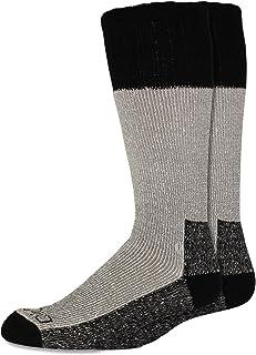 Dickies Men's 2 Pack High Bulk Acrylic Thermal Boot Crew Socks - black - Large
