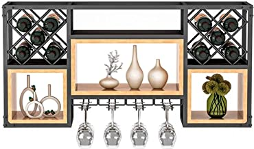 Wine Rack Metal Wall-Mounted Wine Rack &Ndash; Inverted Wine Glass Display - Elegant Gold/Black Storage &Ndash; Ideal for ...