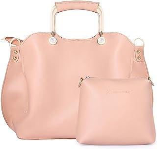 Shining Star Women's Handbag With Sling Bag (Set of 2) (D-Cream)