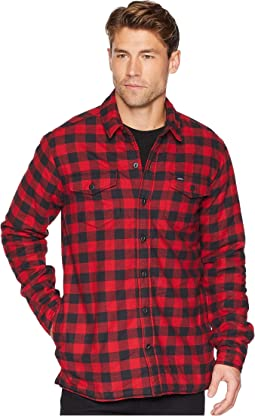 Rinsed White/Black Buffalo Plaid