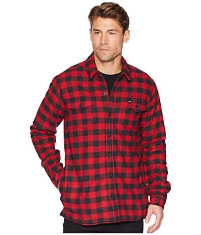 Dickies 67 Collection Flannel Shirt Jacket with Sherpa Lining (Rinsed White/Black Buffalo Plaid) Men
