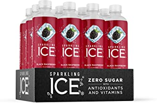 Sparkling Ice, Black Raspberry Sparkling Water, with Antioxidants and Vitamins, Zero Sugar, 17 fl oz Bottles (Pack of 12)