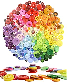 Sewing Buttons Craft Colorful Buttons 10 Light Cream Colored Candy Buttons #LMSB-00188