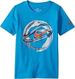Nike Kids Brush Basketball Cotton Tee (Toddler)