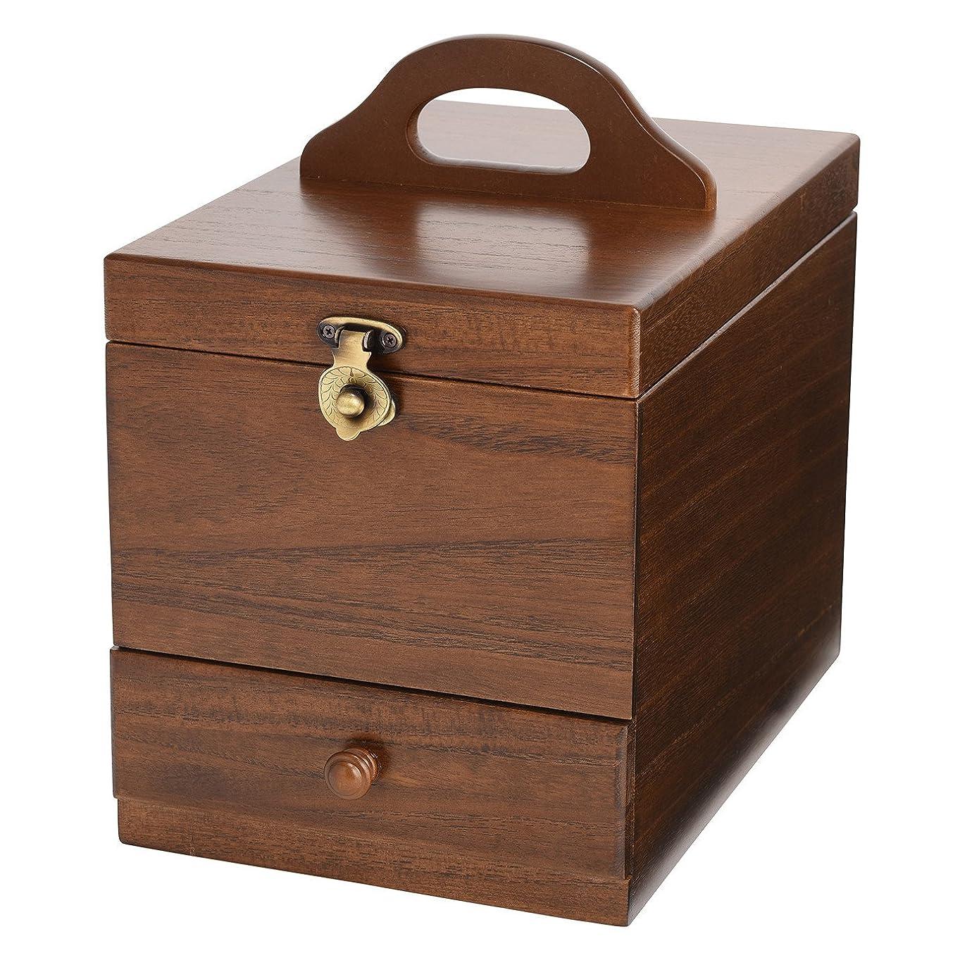 増強するダンスお茶コスメボックス 日本製 静岡の熟練の木工職人の手作り 017-513