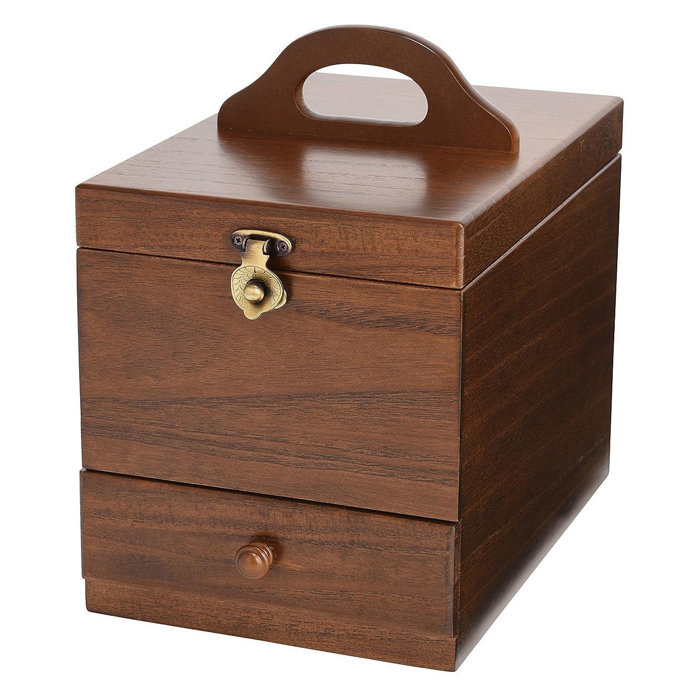 騒々しいネコ精神医学コスメボックス 日本製 静岡の熟練の木工職人の手作り 017-513