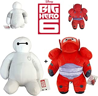 PACK 2 PELUCHES BAYMAX BIG HERO-6 30CM CALIDAD SUPER SOFT (PERSONAJES ROJO Y BLANCO)