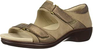 Aravon Women's Duxbury Two Strap Sandal, Taupe, 105 D US