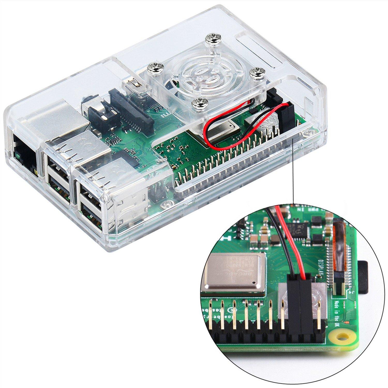 MakerFun Case para Raspberry Pi 3 Modelo B + (B Plus), con ...