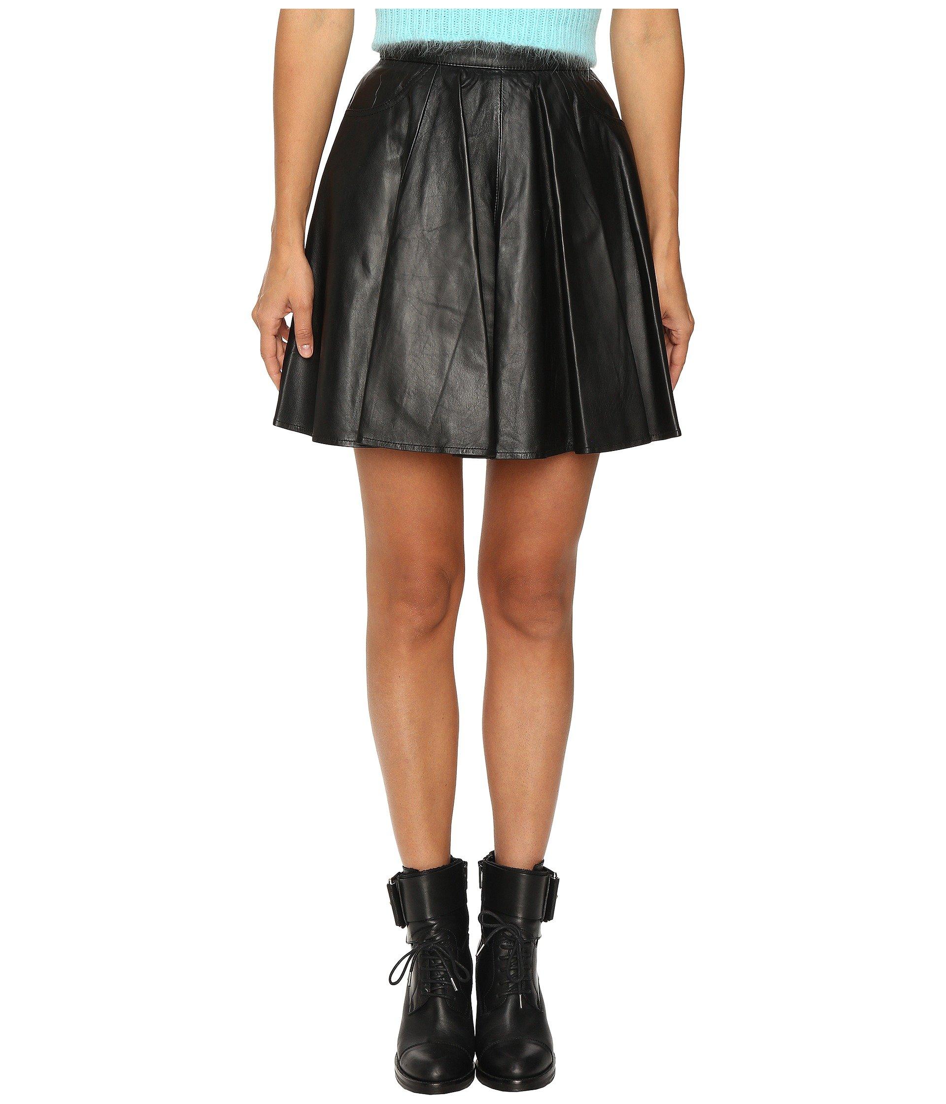 Leather Circle Skirt