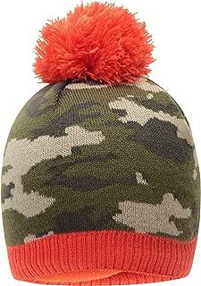 Camo Fleece Kids Beanie - Warm Winter Hat Cap