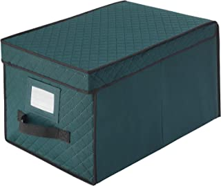 Elf Stor 83-DT5044 Green Christmas Ornament Storage Chest Holds 24 Balls w/ 4