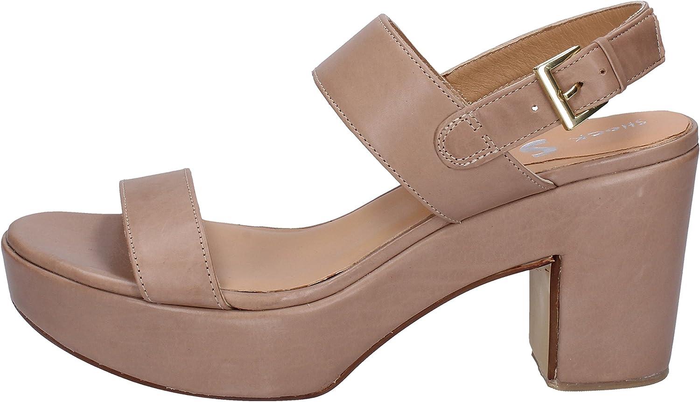 SHOCKS Sandals Womens Leather Beige