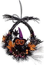 DII Corona Decorativa de Hojas y Bayas de 55.88 cm para Puerta Delantera o Pared Interior para Celebrar la Temporada de Acción de Gracias y otoño, Halloween, Haunted Owl Wreath, 1, 1