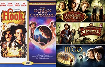 Series of Wildest Kids Magical Creepy 5 Movie Family Feature Indian in the Cupboard / Lemony Snicket's Of Unfortunate Events + Spiderwick Chronicles family Imagination Fantasy Hook & Hugo DVD
