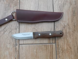 Custom made by a London maker Sale! Hand Crafted Bushcraft Knife - 01 Carbon Tool Steel 'Scandi' Style Blade! Walnut Handle! Bargain!
