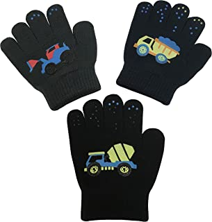 Boys Girls Magic Stretch Gloves 3 Pair Pack Assortment