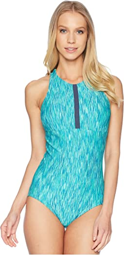 Rush Heather High Neck One-Piece