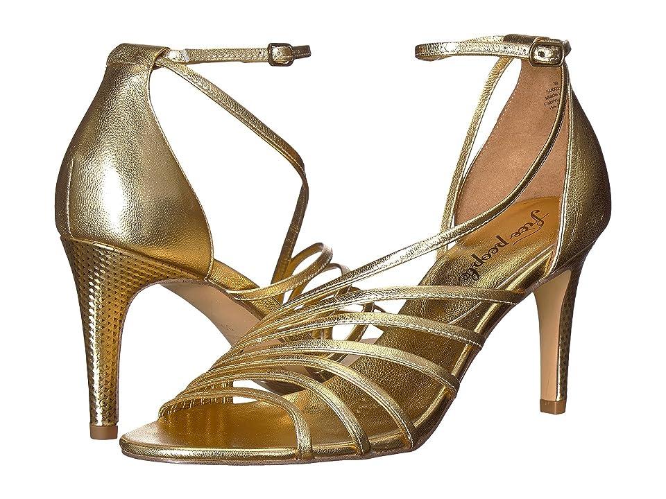 Free People Disco Fever Heel (Gold) High Heels
