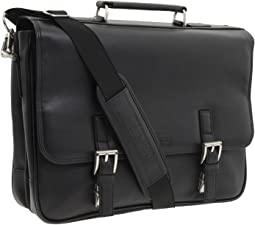 "Kenneth Cole Reaction ""A Brief History"" - 5"" Double Gusset Flapover Portfolio"