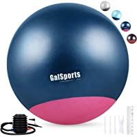 GalSports Extra Thick Non-Toxic Anti-Burst Labor Ball with Quick Pump (Chinese Porcelain & Strawberry Ice)