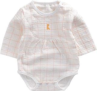 TONGTAI Baby Girls Boys Romper Ruffled Collar Checkered Bodysuits Jumpsuit Onesie, 3-6M, Pink