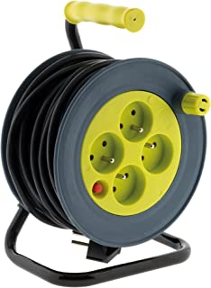 Enrouleur ménager 15m 3G1 mm² - Anis - Zenitech