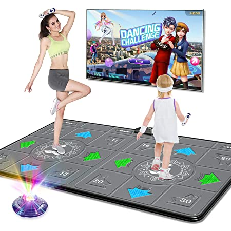 Double Dance Mat Dance Machine TV Interface LED 3D Running Blanket Yoga Game Massage Learning Machine HD Quality YL Double Dance Mat 30mm