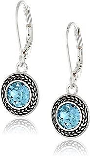 turquoise pierced earrings