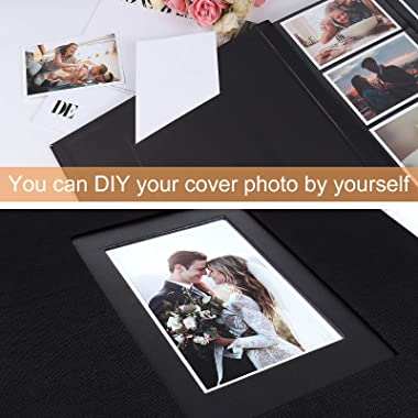 RECUTMS Linen Photo Album 4x6 Wedding Photo Album Family Picture Album Baby Photo Album Birthday Photo Albums Party Photo Boo
