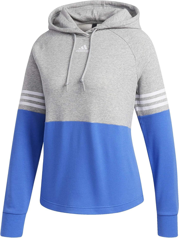adidas Sport ID Hoodie Medium Grey Heather/Hi-Res Blue SM