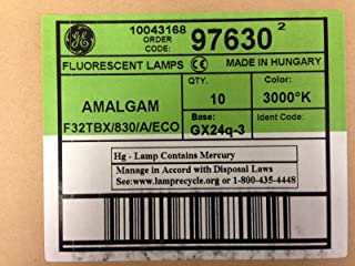 20 Pcs Ge 97630 F32TBX/830/A/Eco Amalgam Biax 32W Triple 4PIN 3000K GX24Q-3 Bulb