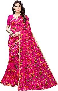 Anni Designer Women's Pure Chiffon Printed Saree