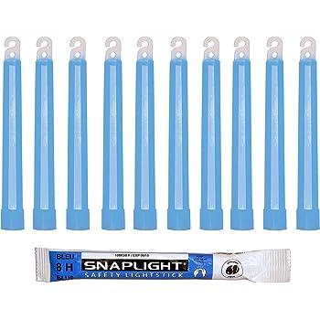 Bo/îte de 10 Cyalume SnapLight Bleu 15cm B/âton Lumineux Glow Stick Light Stick Fluorescent Dur/ée 8 heures