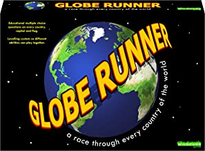 Globe Runner – Educational Family Board Game for Both Kids and Adults That Races Around The World Through Every Country