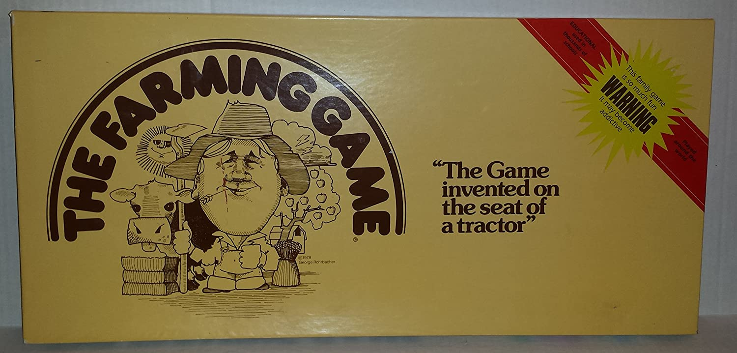 The Farming Game 1979 Educational Board Game