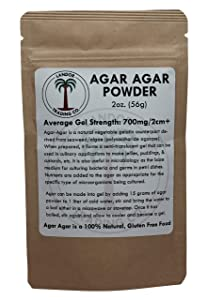 Agar Agar Powder - 2 Ounces (56 Grams) - Average Gel Strength